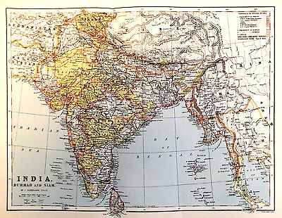 INDIA - BURMAH - SIAM - Original 1860 Antique Victorian Maps