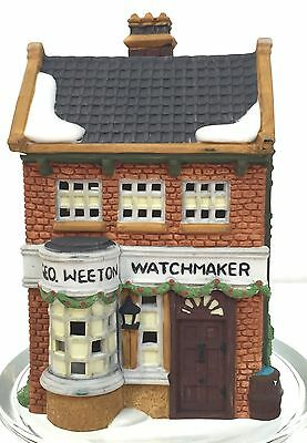 Dept 56 Dickens Village GEO WEETON WATCHMAKER~ Never Used~ Damaged Box~