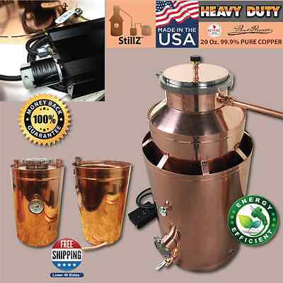 StillZ 50 Gal Copper Moonshine GRAPPA Double Burner Complete Still Kit!