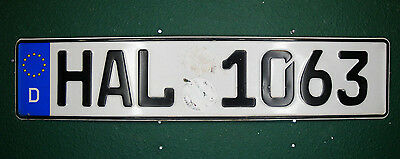 Germany License Plate / German Euro Plate Government Road Works #HAL 1063 Hal