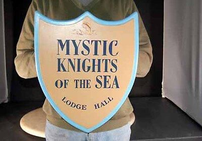 """Amos n and Andy Show SIGN  """"Mystic Knights of the Sea"""" Lodge Hall SIGN"""