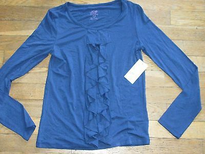 Girl's size 14/16 Joe Fresh navy long sleeve shirt  new with tags
