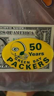 Green bay packers  50 year button pinback pin NFL