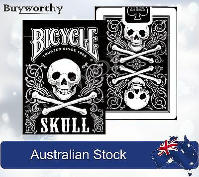 Skull Playing Cards Black Pirate Poker Deck Bicycle Brand New Made in USA
