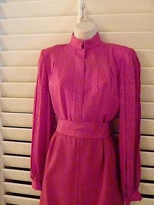 Andre Laug Vintage blouse with matching fabric belt, size10, EXCELLENT Condition