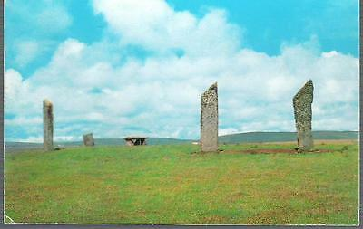 Stenness, Orkney - Standing Stones - postcard c.1960s