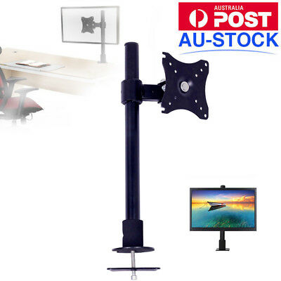 "10""-27"" VESA Single Arm Monitor Stand TV Computer Display Desk Mount Bracket"