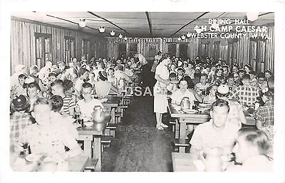 B94/ Camp Caesar Webster County West Virginia WV RPPC Postcard Dining Hall 1961