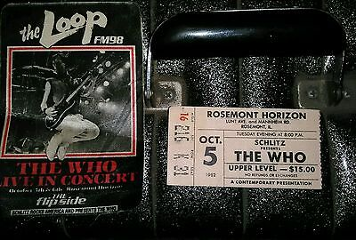 The Who Ticket Stub And Rare Silk Patch Chicago 10-08-1982  THE WHO
