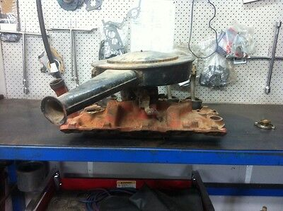 Chev V8 2 barrel manifold carby and air cleaner