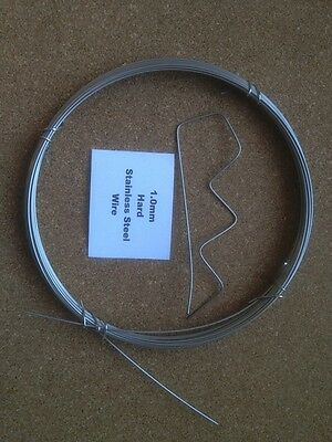 1mm x 10m 19 SWG Stainless steel Wire Floristry Craft Bonsai Fishing Lures