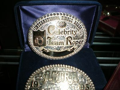 Rodeo trophy buckle - IFR Celebrity Team Roping Champion