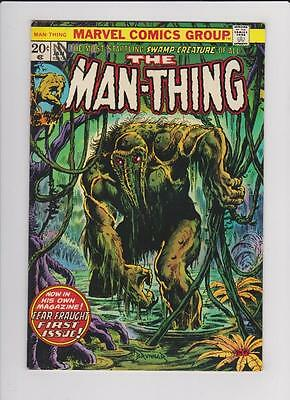 High Grade Marvel Comic: 1974 Man-Thing #1 2nd  Howard the Duck  (H026)