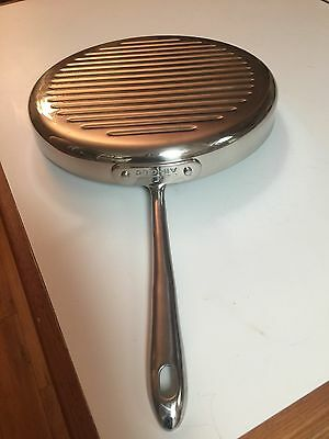 """All-clad 12"""" Stainless Steel Frying Pan - Griddle-  Skillet  Nice"""