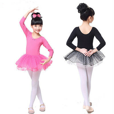 Girl Tulle Dot Lycra Cotton Professional Ballet Tutu Dance Dress Dancing Costume