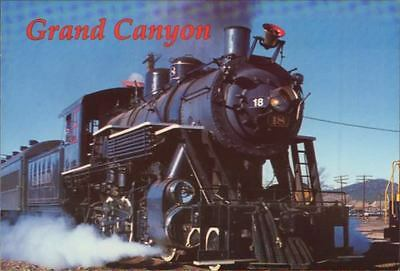 """Postcard: """"Gateway to the Grand Canyon"""" Engine #18"""