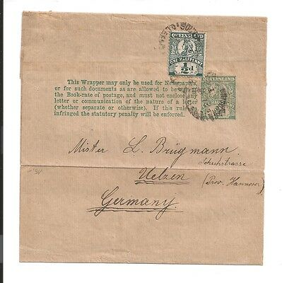 special c1890s Queensland newspaper only postal cover no mail allowed