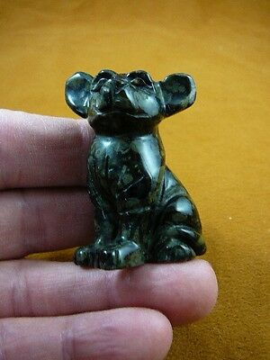 (Y-DOG-CH-713) black green CHIHUAHUA Mexican dog figurine carving Chihuahuas