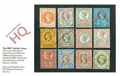 Postcard: National Postal Museum, The 1887 'Jubilee' Issue Stamps