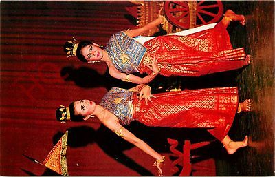 Postcard: Young-Attractive Thai-Girls Dancing In Thai-Style