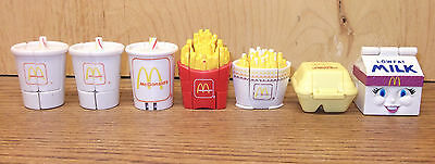Vintage Lot of 7 McDonald's Happy Meal Changeables Transformers TOYS all working