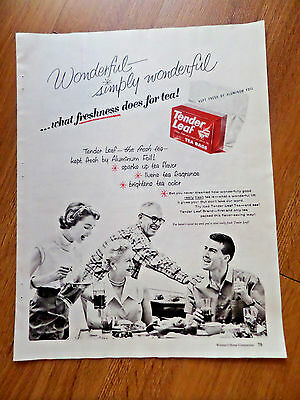 1955 Tender Leaf Tea Bags Ad