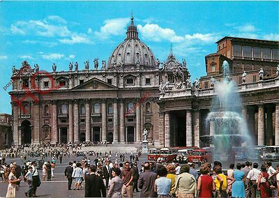 Postcard: Vatican City, Square And Church Of St. Peter