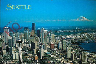 Postcard: Seattle, Washington, Aerial View Of The City