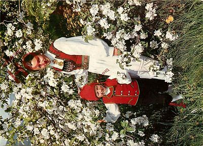 Postcard: Norway, National Costumes Of The Hardanger District