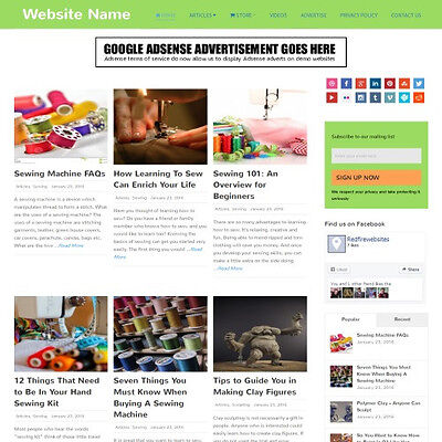 ARTS AND CRAFTS SHOP - Online Affiliate Business Website For Sale! Free Domain