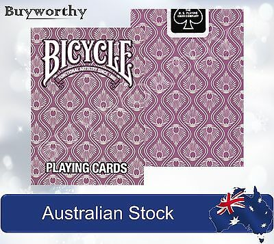 Peacock Purple Violet Premium Poker Playing Cards Deck Bicycle Brand New