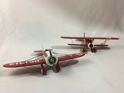 Lot of 2 Texaco Die Cast Early Model Replica Plane Coin Banks