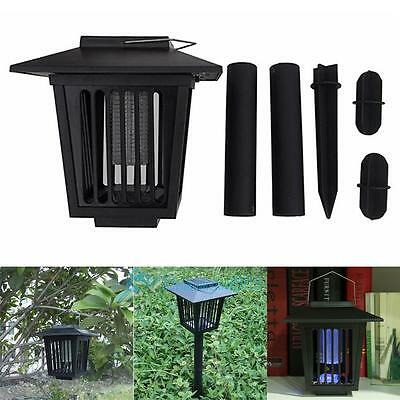 Solar Powered UV LED Outdoor Mosquito Insect Pest Bug Insect Zapper Killer Lamp