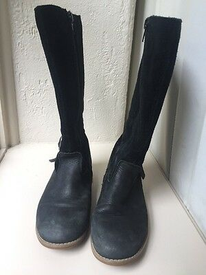 Ciao Girls Suede And Leather Black High Boots - Size 33