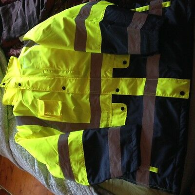 ESCAPE Hi-Vis Water Proof  4-in-1 Four Seasons Jacket with Reflective Tape NEW