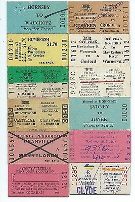 12 Different NSW Tickets
