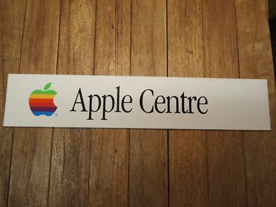 Apple Centre Vintage Store Sign 1989 White |  MAC Iphone OSX Computer