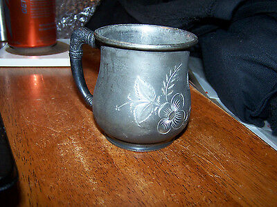 Vintage Hartford Silver Co Quadruple Silver Plate Small Handled Cup LOOK!