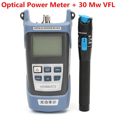 -70~+10dBm Optical Power Meter + 30 Mw Visual Fault Locator For Optic Fiber Tool