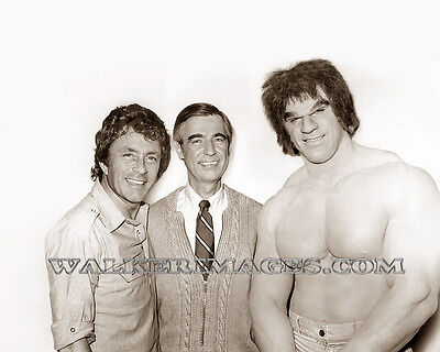 36 The Incredible Hulk Tv Series Lou Ferrigno Fred Rogers Bill Bixby Photo Repri