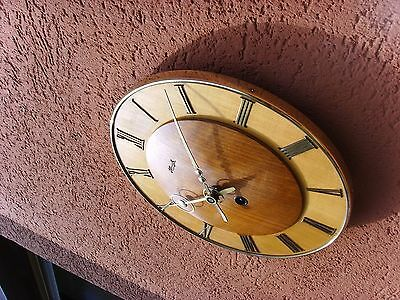 beautiful old  kienzle wall clock seldom junghans mauthe era function 24cm