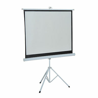 "HOMCOM 100"" Projection Screen 4:3 Ratio Manual Pull-down Foldable Adjustable"