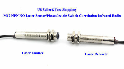 US M12 NPN NO Laser Sensor/Photoelectric Switch Correlation Infrared Radio