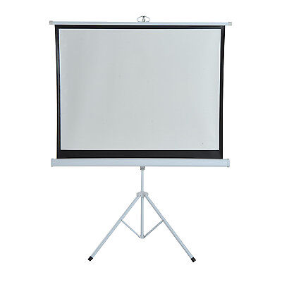 """120"""" Projection Screen 4:3 Ratio Portable Folding Home Theater w/ Tripod Stand"""