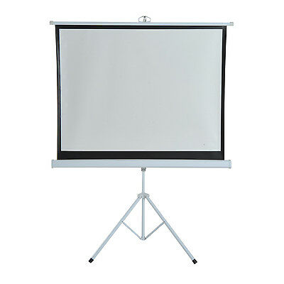 """HOMCOM 120"""" Projector Screen Pull-up Tripod Stand Home Office Foldable Portable"""