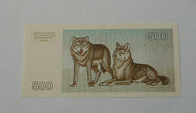 1993 Lithuania Collectors note Five Hundred (500) Talons No:MG150320 Ref FBN507