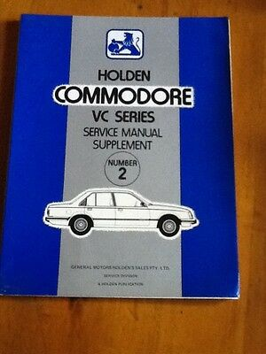 Holden vc commodore vc series service manual supplement