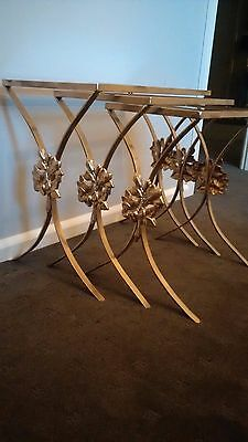 Vintage Gold wrought iron nest of tables
