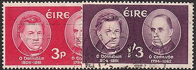 Ireland 1962 O'Donovan and O'Curry Death Centenaries Set Used