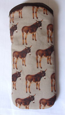 DONKEYS  GLASSES CASE COTTON ideal small gift